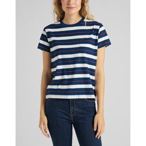 Lee dámské triko  RELAXED POCKET TEE WASHED BLUE