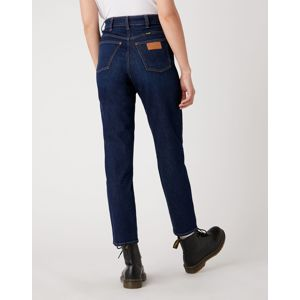 Wrangler  MOM JEANS DARK BLUE