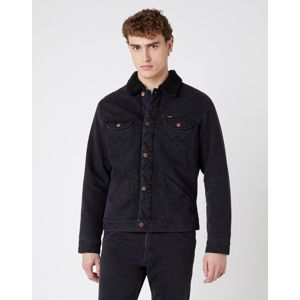 Wrangler pánská bunda  124WJ SHERPA BLACK WASHED